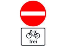 267 Verbot Der Einfahrt, Radfahrer Frei