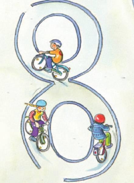 Fahrradparcours Radfahrausbildung Grundschule Übungen Motorik Bewegung Vorfahrt