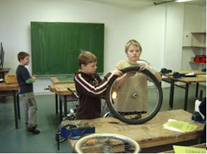 Fahrradwerkstatt Projekt Modul 11 Projektpruefung Sekundarstufe Verkehrserziehung Mobilitaetsbildung