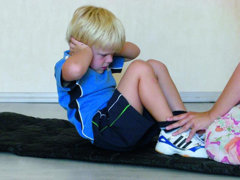 Fitnesstest Situps Ranzen Schulranzen Rücken Verkehrserziehung Scout