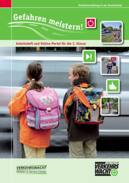 Gefahren Meistern Klasse 2 Verkehrserziehung Titelseite Bus Bahn Radfahren Schulweg Inline Skaten