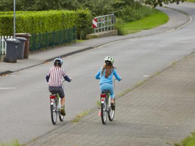 Radfahren in Klasse 2