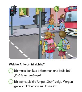 Gefahren Meitern Busfahren Grundschule Verkehrserziehung Aufgabe