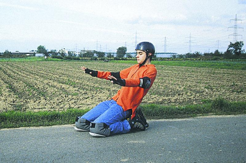 Inline Skaten Bremsen Fallen Double Kneeing Sekundarstufe Verkehrserziehung Mobilitaetsbildung