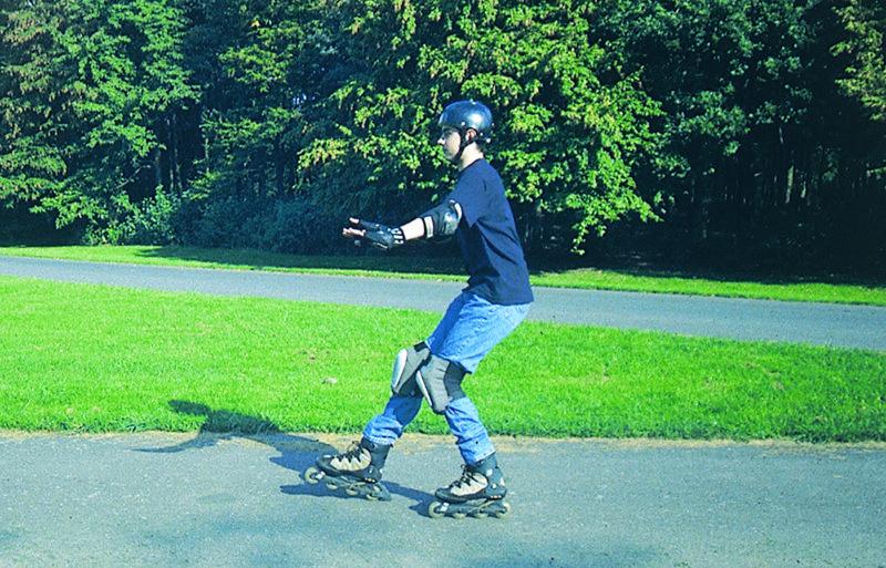 Inline Skaten Bremsen Fallen Fersen Stopp Sekundarstufe Verkehrserziehung Mobilitaetsbildung