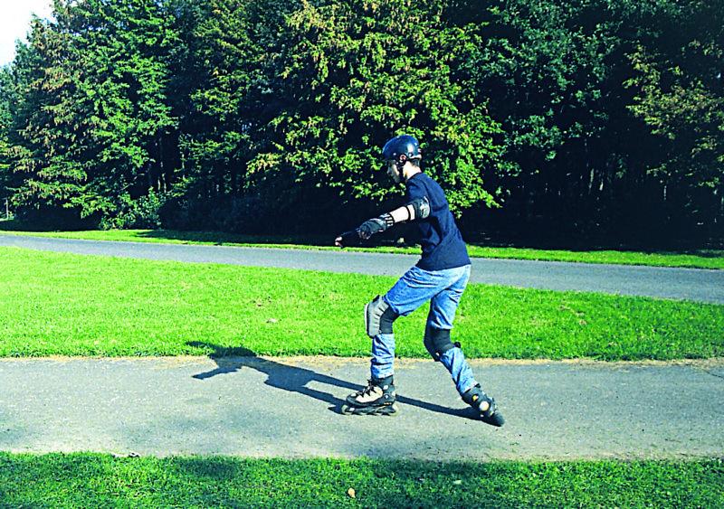 Inline Skaten Bremsen Fallen T Stopp Sekundarstufe Verkehrserziehung Mobilitaetsbildung