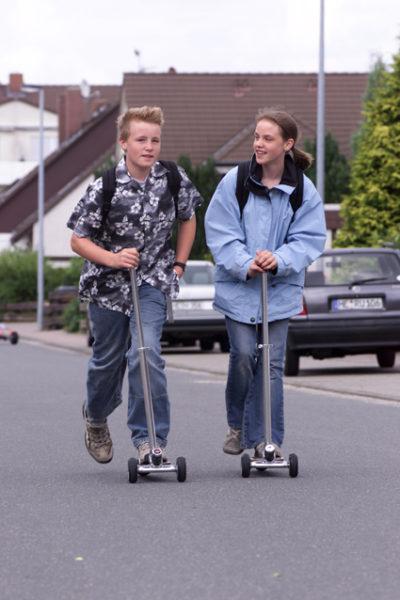 Inline Skaten Kickboards Helm Sekundarstufe Verkehrserziehung Mobilitaetsbildung