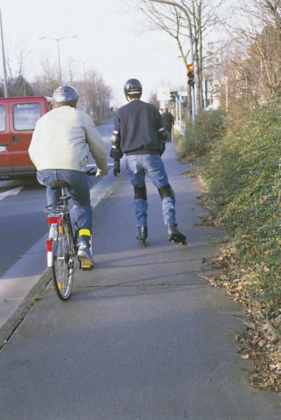 Inline Skaten Projekt Ganztag Baustein 12 Konflikte Radfahrer Sekundarstufe Verkehrserziehung Mobilitaetsbildung
