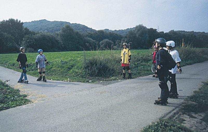 Inline Skaten Projekt Ganztag Baustein 13 Gefahrensimulation Sekundarstufe Verkehrserziehung Mobilitaetsbildung