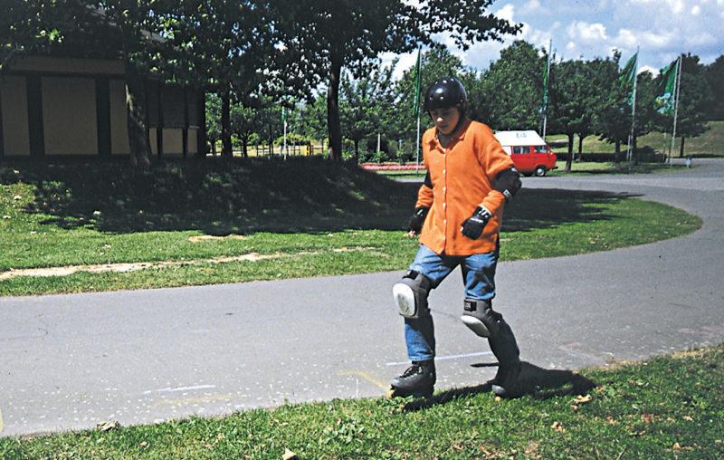 Inline Skaten Projekt Ganztag Baustein 4 Ausweichen Kurven Rasenstopp Sekundarstufe Verkehrserziehung Mobilitaetsbildung