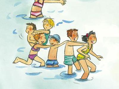 Kindergarten Bewegung Reaktionsspiele Reaktion Spiele Wasser Schwimmbad Familie Verkehrserziehung Mobilitaet