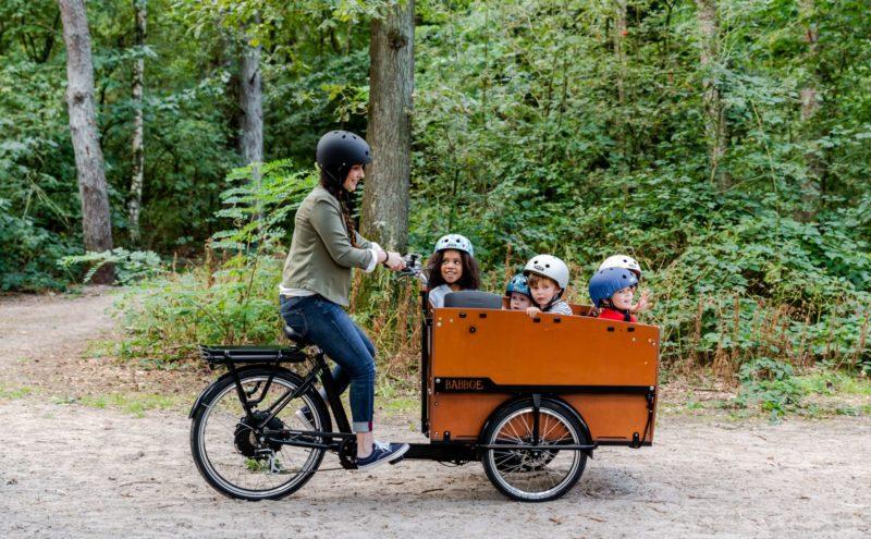 Kindergarten Lastenrad Kindertransport Unterwegs Babboe
