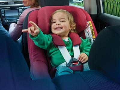 Kinderrückhaltesysteme - Kinder müssen im Auto gesichert sein