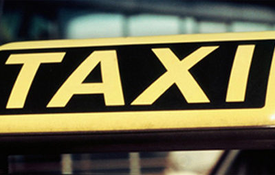 Sicher auch im Taxi