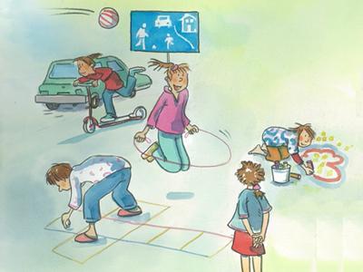 Mehr Kindersicherheit Spielen Strasse Gehweg Kindergarten Elterntipps