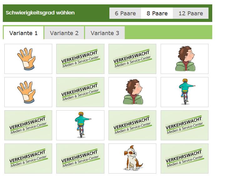 Mein Schulweg Klasse 1 Portal Online Lernen Lins Und Rechts Memory