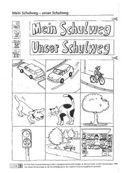 Mein Schulweg Unser Schulweg Unterrichtsanregung Klasse 1 Verkehrserziehung Grundschule Mobilitaetsbildung