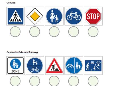 I. Verkehrszeichen und Regeln für Fußgänger