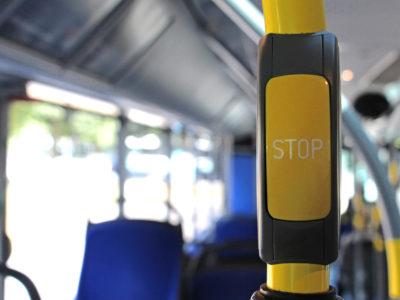 Mobil Teilhaben Bus Fahren Lernen Stop Taste