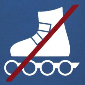 Mobil Teilhaben Bus Fahren Lernen Symbol Inline Skaten Verboten