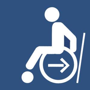 Mobil Teilhaben Bus Fahren Lernen Symbol Rollstuhl Anlehnen