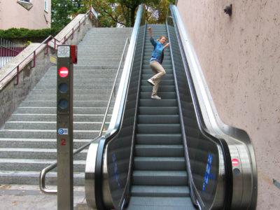 Mobil Teilhaben Rollstreppe Falsch Quatsch Machen