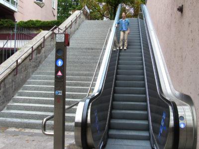 Mobil Teilhaben Rollstreppe Falsch Gegen Fahrtrichtung