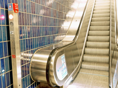 Mobil Teilhaben Rolltreppe Nothalt