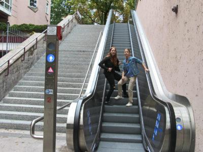 Mobil Teilhaben Rolltreppe Falsch Blockade