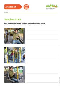 Mobil Teilhaben Verkehrserziehung Geistige Behinderung Bus Fahren Lernen Im Bus Ab Verhalten