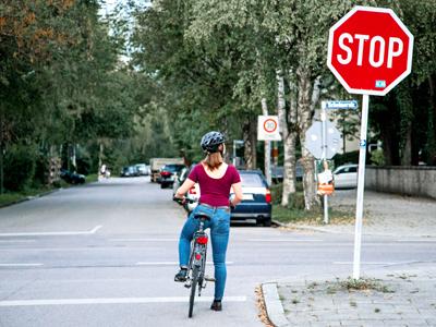 Verhalten beim Radfahren