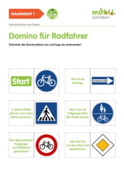 Mobil Teilhaben Verkehrserziehung Geistige Behinderung Fahrrad Fahren Lernen Domino
