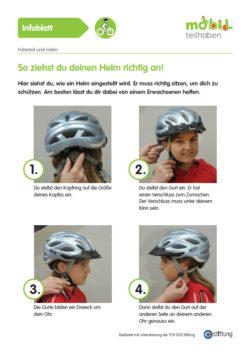 Mobil Teilhaben Verkehrserziehung Geistige Behinderung Fahrrad Fahren Lernen Fahrrradhelm Aufsetzen