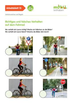 Mobil Teilhaben Verkehrserziehung Geistige Behinderung Fahrrad Fahren Lernen Richtiges Faslches Verhalten