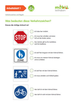 Mobil Teilhaben Verkehrserziehung Geistige Behinderung Fahrrad Fahren Lernen Verkehrszeichen