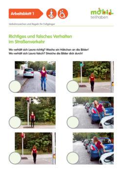 Mobil Teilhaben Verkehrserziehung Geistige Behinderung Fussgaenger Rollstuhlfahrer Ab Verhalten