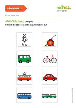 Mobil Teilhaben Verkehrserziehung Geistige Behinderung Grundlagen Ich Und Meine Wege Ab Mein Schulweg