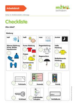 Mobil Teilhaben Verkehrserziehung Geistige Behinderung Grundlagen Orientierung Planung Ab Checkliste Alles Dabei