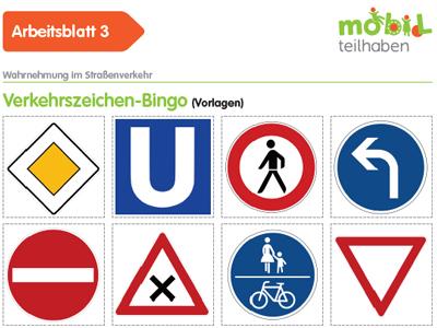 Verkehrszeichen-Bingo
