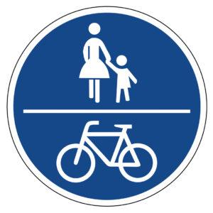 Mobil Teilhaben Verkehrserziehung Geistige Behinderung Grundlagen Unvorhergesehene Zwischenfaelle Vz Gemeinsamer Geh Und Radweg