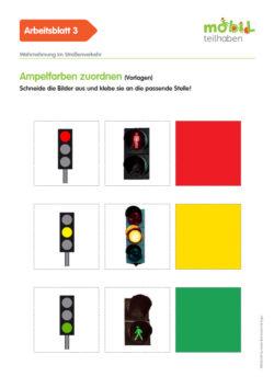 Mobil Teilhaben Verkehrserziehung Geistige Behinderung Grundlagen Wahrnehmung Im Straßenverkehr Ab Ampelfarben Zuordnen