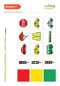 Mobil Teilhaben Verkehrserziehung Geistige Behinderung Grundlagen Wahrnehmung Im Straßenverkehr Ab Schuhkarton Farben Sortieren