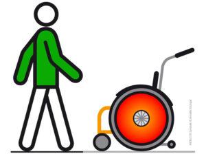 Mobil Teilhaben Verkehrserziehung Geistige Behinderung Metacom Annette Kitzinger Unterwegs Fussgaenger Rollstuhl