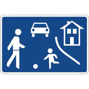Mobil Teilhaben Verkehrszeichen Beginn Fußgaengerzone