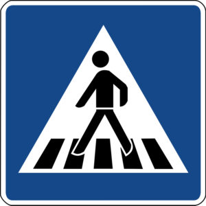 Mobil Teilhaben Verkehrszeichen Beginn Zebrastreifen