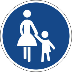Mobil Teilhaben Verkehrszeichen Gehweg