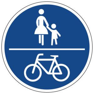 Mobil Teilhaben Verkehrszeichen Gemeinsamer Geh Und Radweg