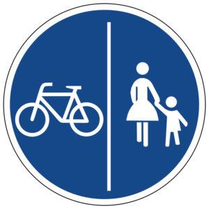 Mobil Teilhaben Verkehrszeichen Getrennter Geh Und Radweg