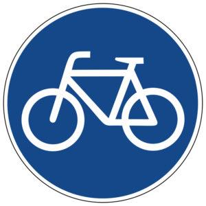 Mobil Teilhaben Verkehrszeichen Radweg