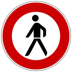Mobil Teilhaben Verkehrszeichen Verbot Fue Fussgaenger